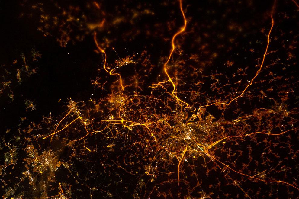 Провинция Льеж, Бельгия. Вид с МКС