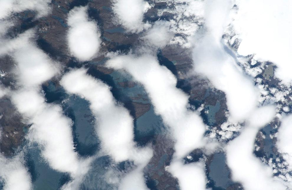 Облачные образования над южной частью Индийского океана