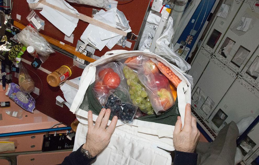 На борту грузовика Dragon SpaceX прибыли на МКС фрукты