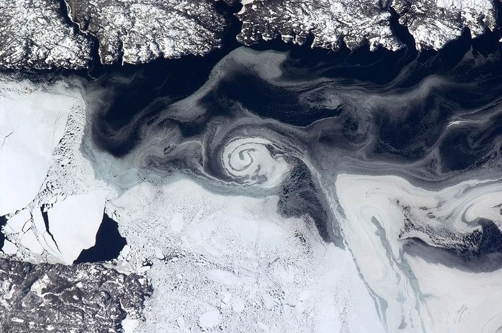 Вид на зимний Ньюфаундленд, Канада