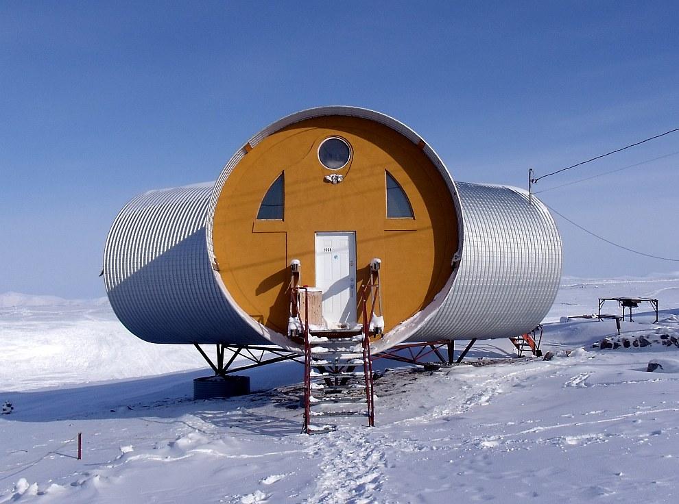 Экологичный дом из труб