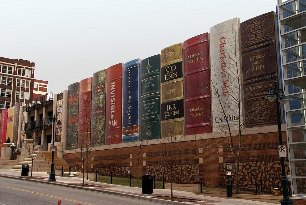 Фасад публичной библиотеки Канзаса (США)