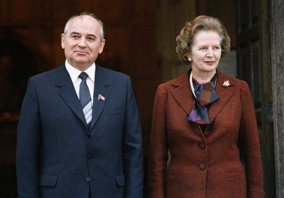 Маргарет Тэтчер и Михаил Горбачев в Лондоне