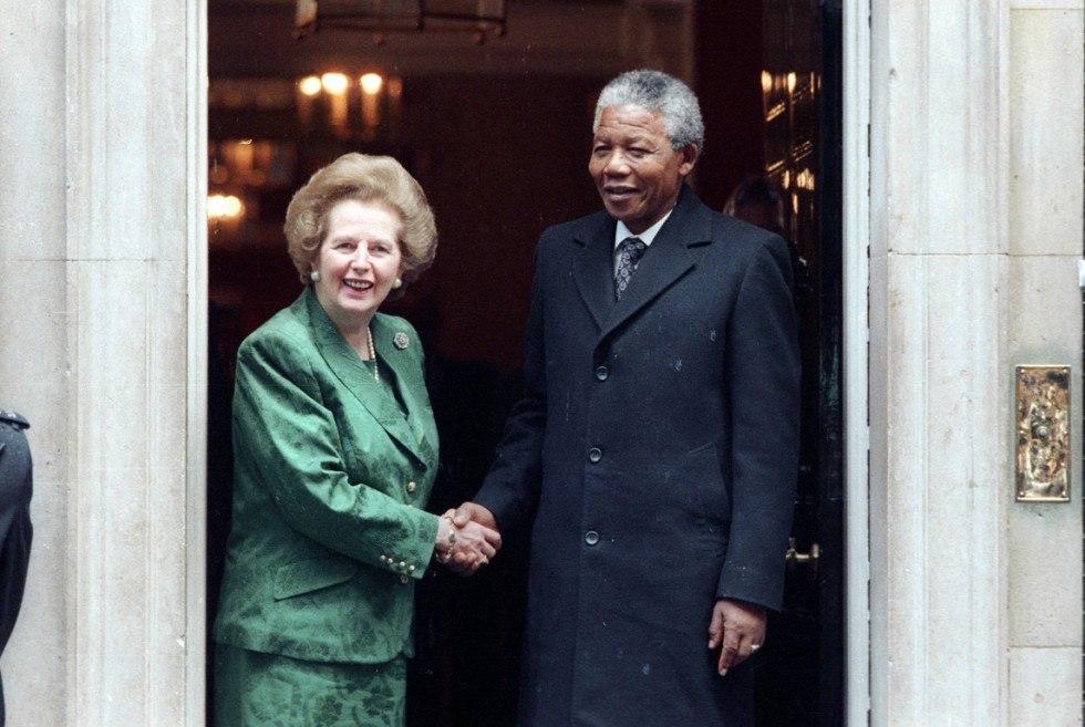 Маргарет Тэтчер и Нельсон Мандела