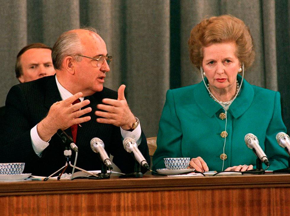 Маргарет Тэтчер и Михаил Горбачев в Москве