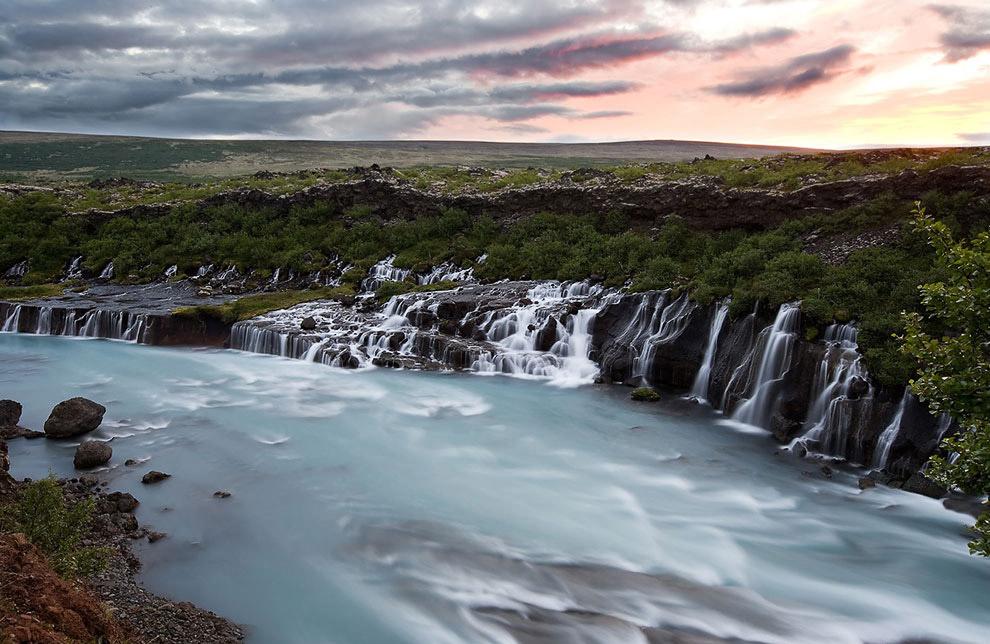 Водопад лавы Хрёйнфоссар