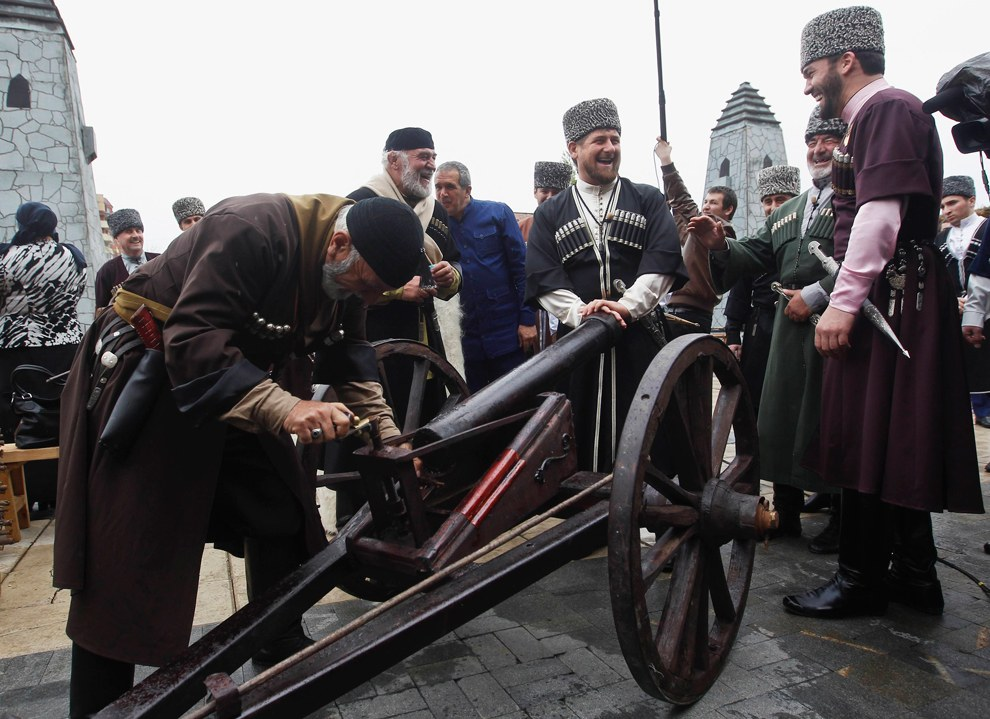 Чеченский лидер Рамзан Кадыров на мероприятии ко Дню чеченского языка в Грозном