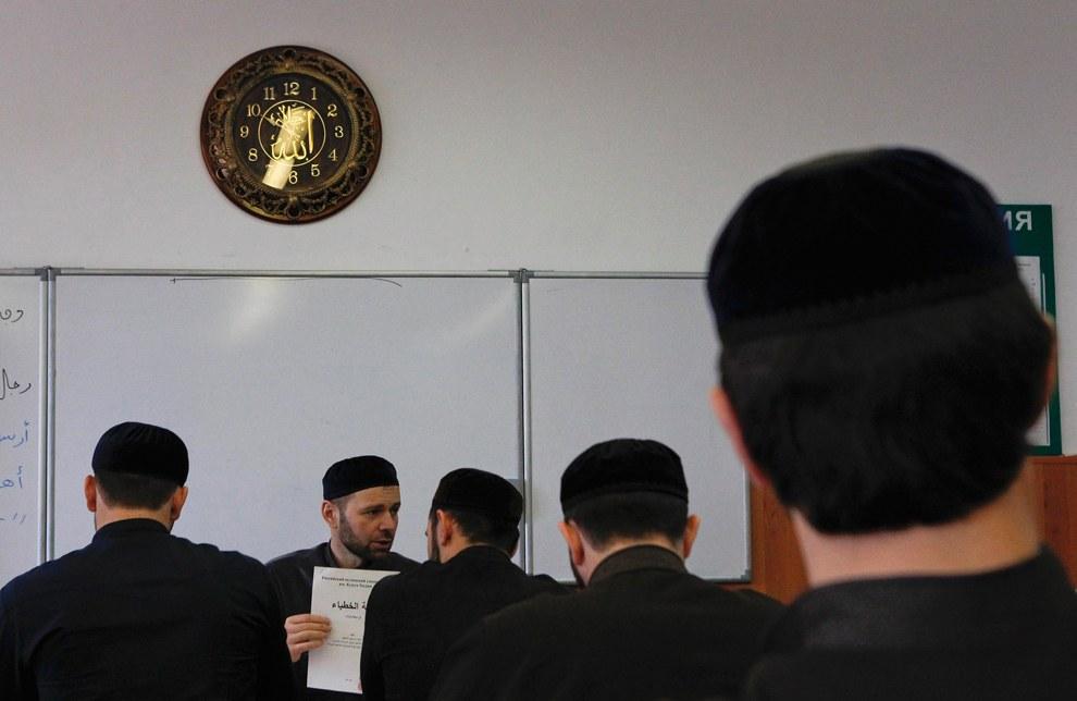 Студенты Российского исламского университета в Грозном
