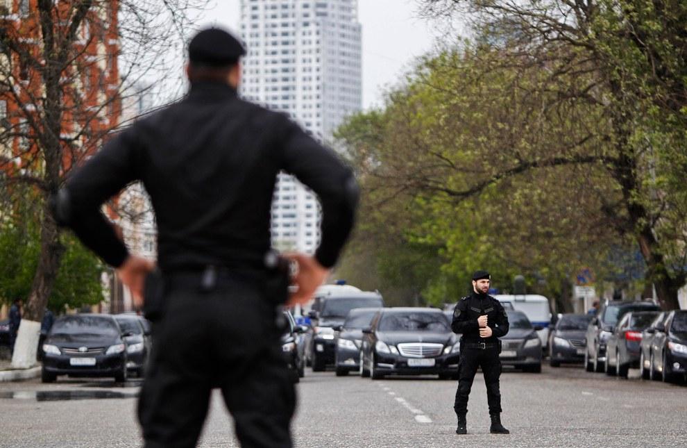 Чеченские спецназовцы. В Грозном идут мероприятия по случаю Дня чеченского языка