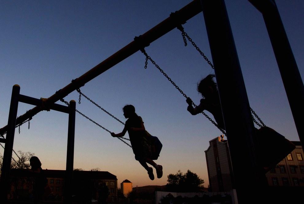 Детская площадка в Грозном
