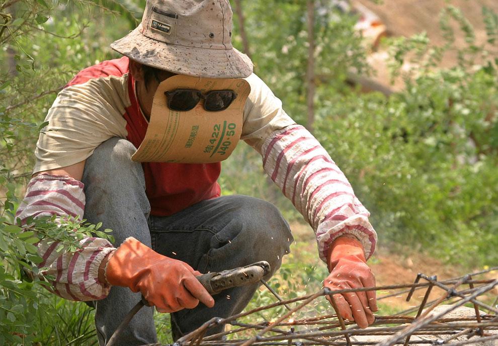 Самодельная маска для сварки, провинция Шаньдун