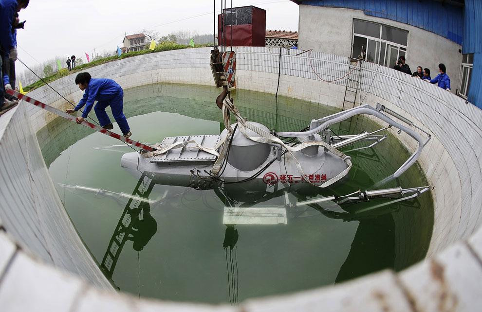 Первые испытания подводной лодки, город Ухань, провинция Хубэй