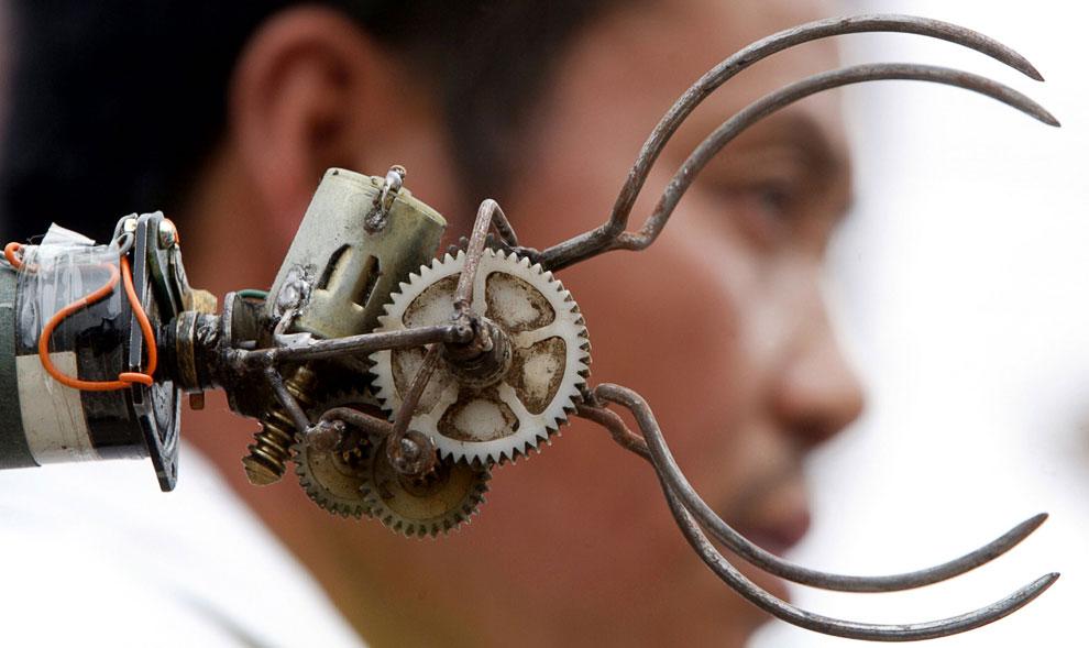 «Рука» домашнего робота «Лао Ву» вблизи, Пекин