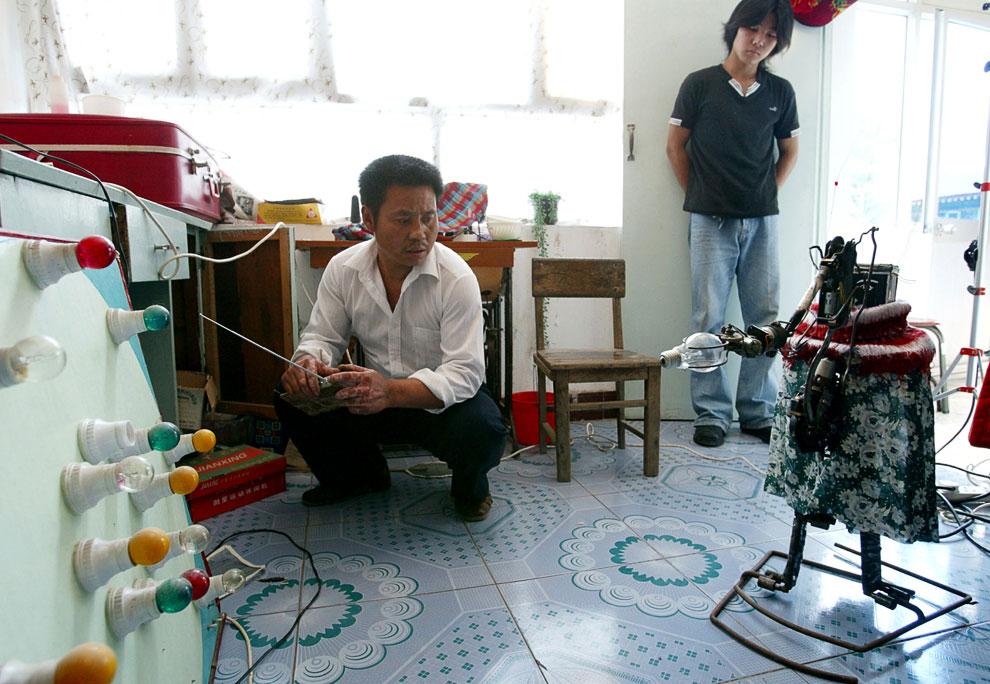 Симпатичный домашний робот «Лао Ву»