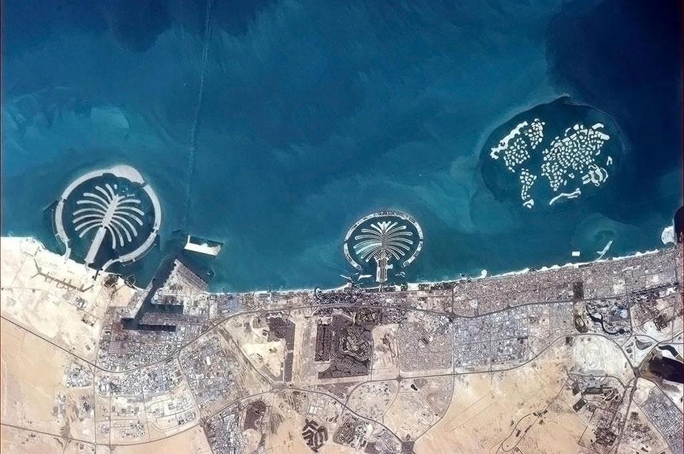 Пальмовые острова — это архипелаг искусственных островов, сотворенный руками человека на Земле