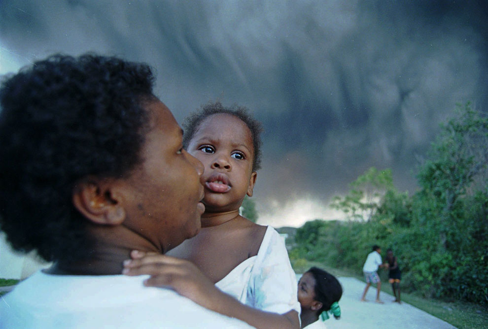 До 1995 года на острове Монтсеррат жили 11 000 человек