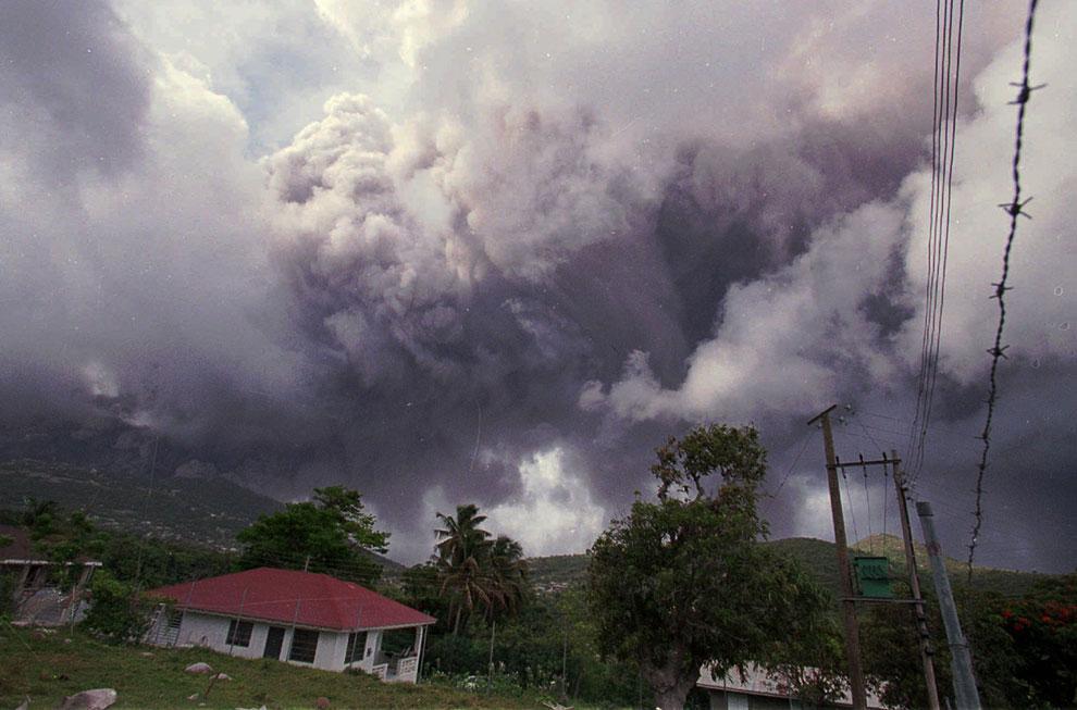 Буйство вулкана Суфриер-Хиллс