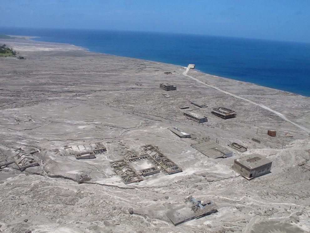 Город-призрак Плимут на карибском острове Монтсеррат