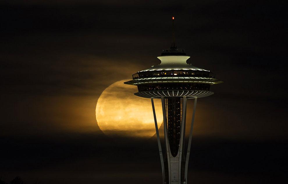 Спейс-Нидл («космическая игла») — самая узнаваемая достопримечательность на северо-западе тихоокеанского побережья США и символ города Сиэтл