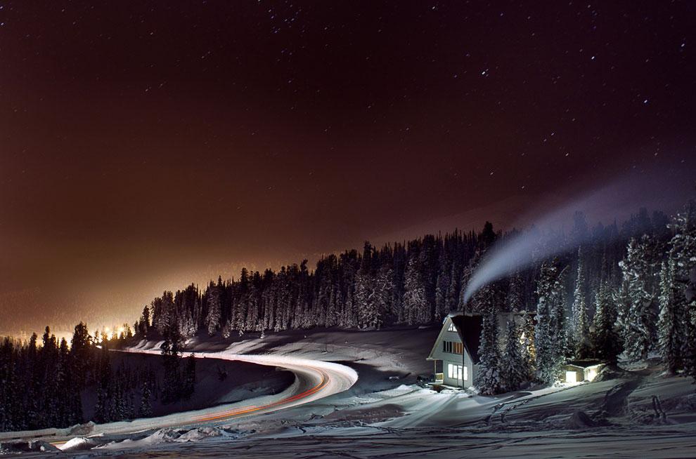 Ночь в Красноярском крае