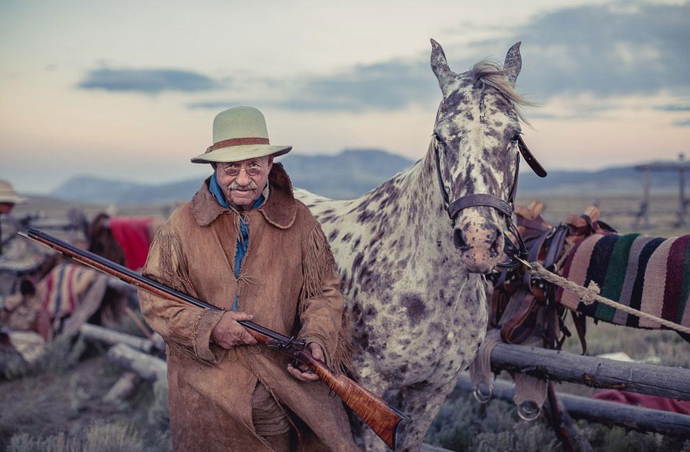 Ковбой на ранчо в штате Монтана
