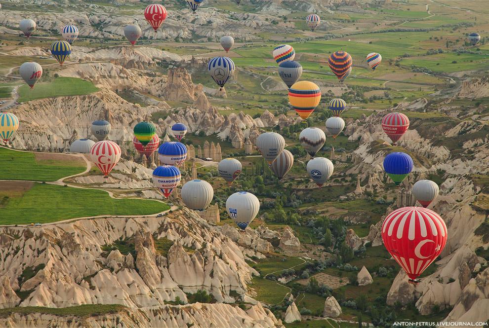 Над Каппадокией на воздушном шаре