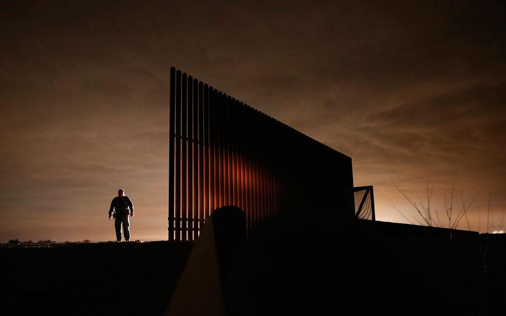 Американский пограничник в Ла-Хойя, штат Техас