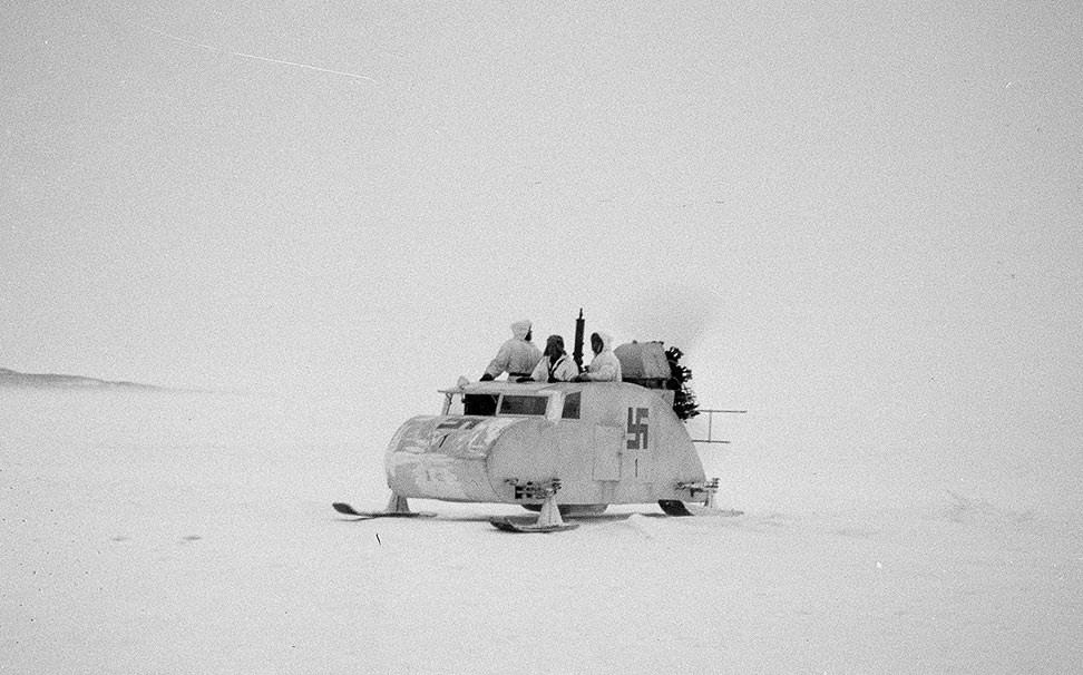 Снегоход с пропеллером, Хаапасаари, Финляндия