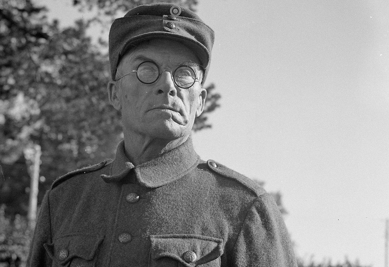 Финский солдат в Миккели, Финляндия