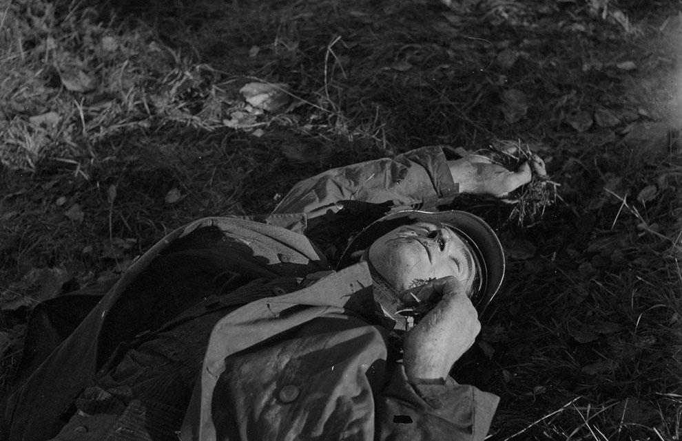 Погибший немецкий солдат