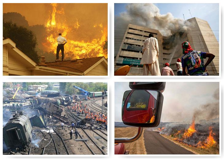 Лесные пожары в Калифорнии, пожар в Лахоре и взрыв поезда под Ростовом