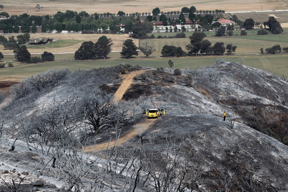 Из-за лесных пожаров были эвакуированы жителей около 4 000 домов