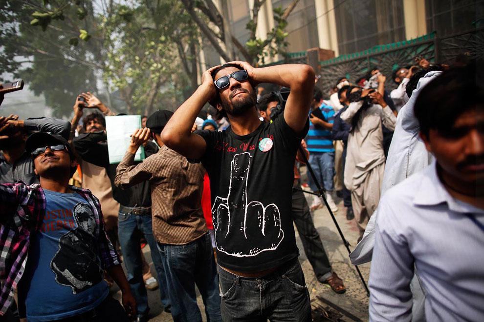 Пожар в Лахоре