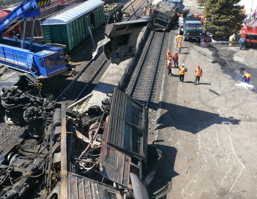 Взрыв поезда под Ростовом