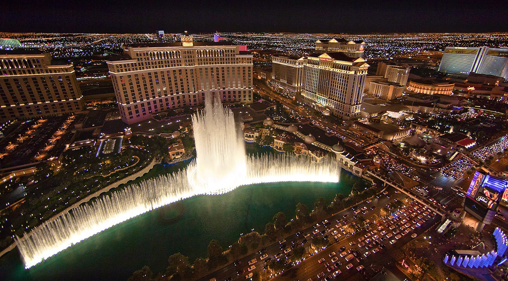 Фонтан Bellagio (Лас-Вегас) — самый знаменитый танцующий фонтан Америки