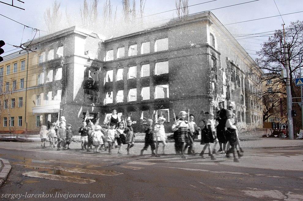 Сталинград 1943 — Волгоград 2013 Дети Сталинграда у разрушенного здания школы