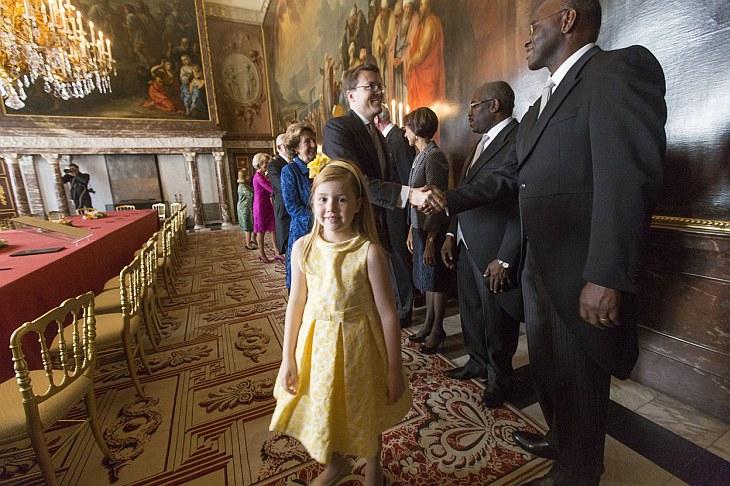 Перед отречением королевы Беатрикс в королевском дворце