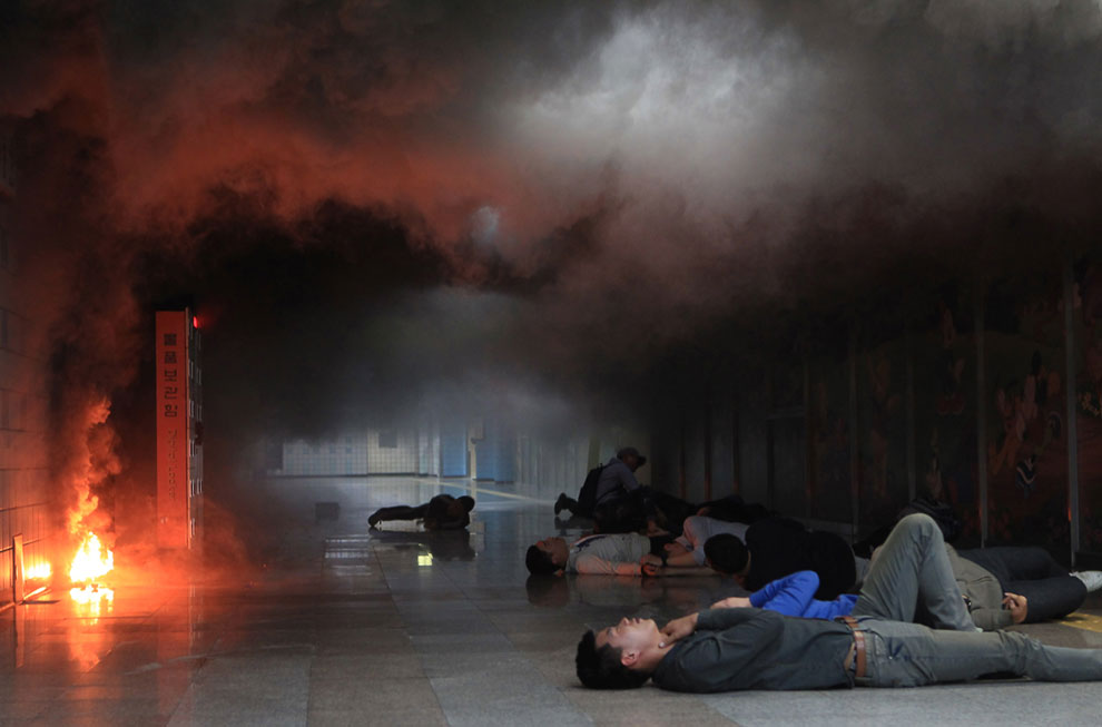 Моделирование химической атаки на станции метро