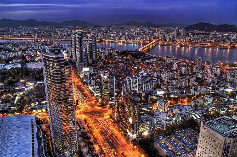 В почти 11-миллионном Сеуле проживает более 20% населения страны. HDR-фотография