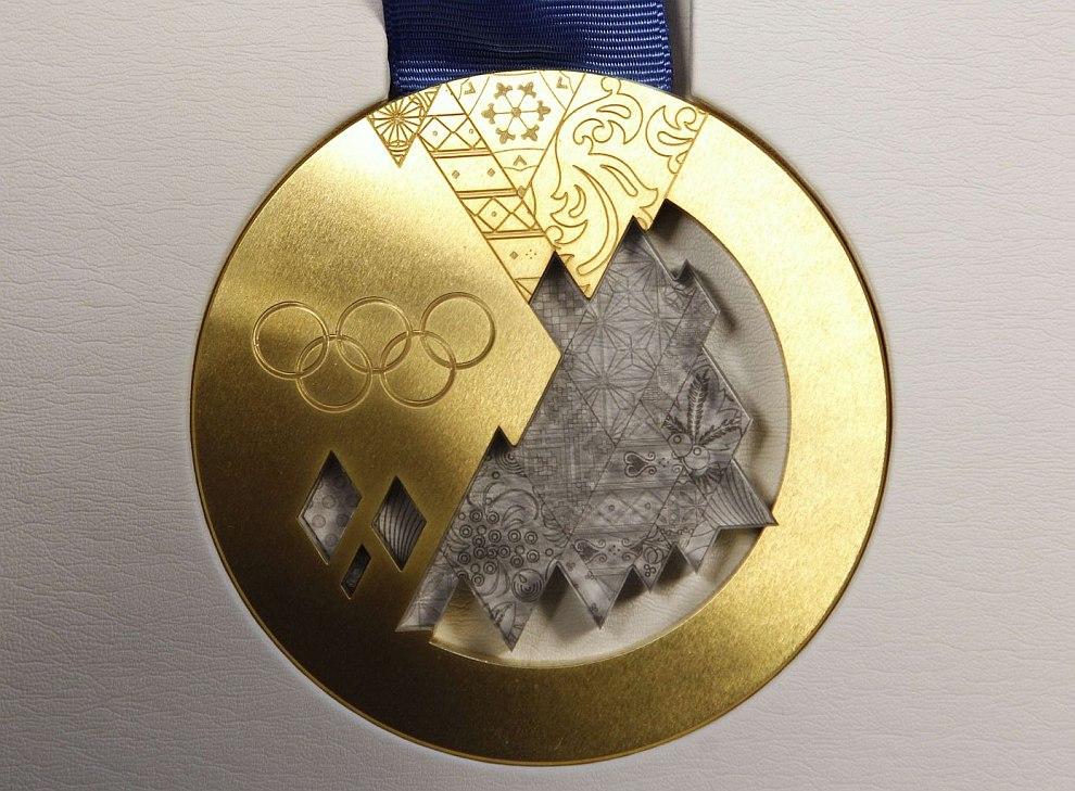 Золотая Олимпийская медаль Сочи-2014