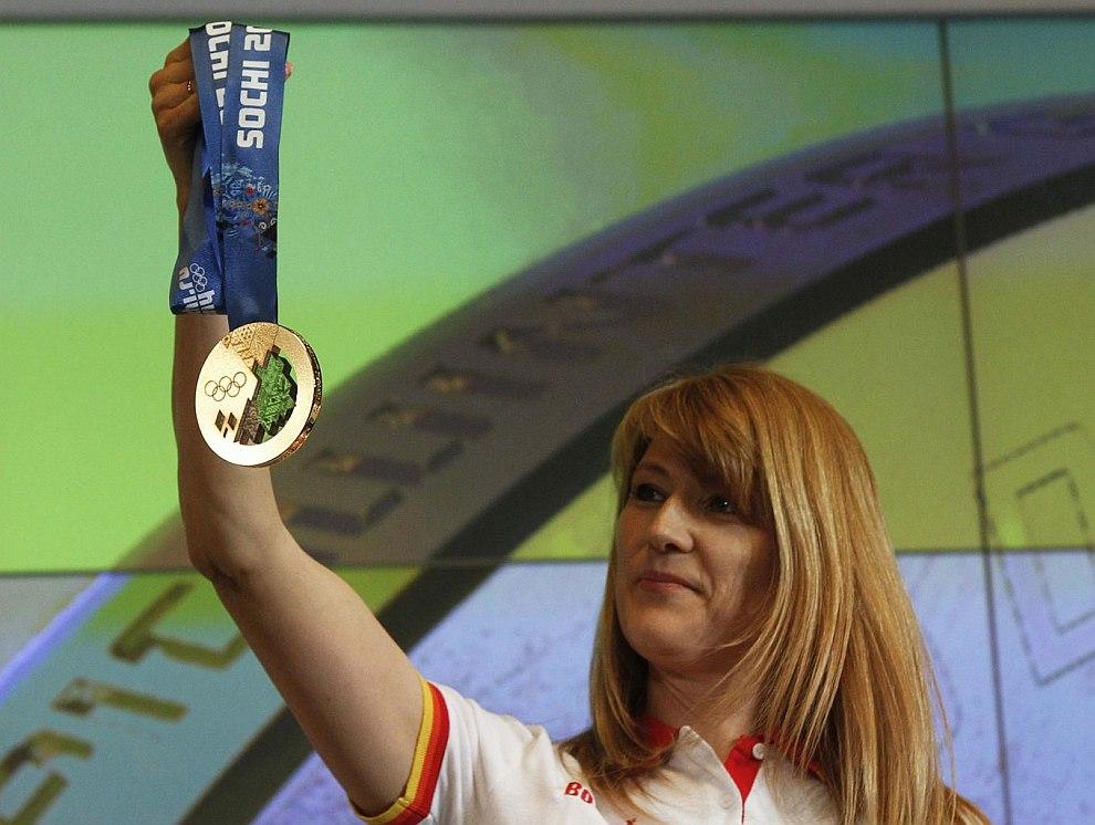Светлана Журова с золотой медалью