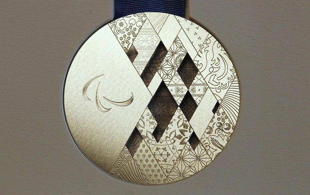 Серебряная Паралимпийская медаль Сочи-2014