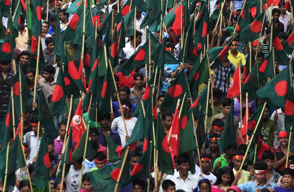 Первомайская демонстрация в Бангладеш