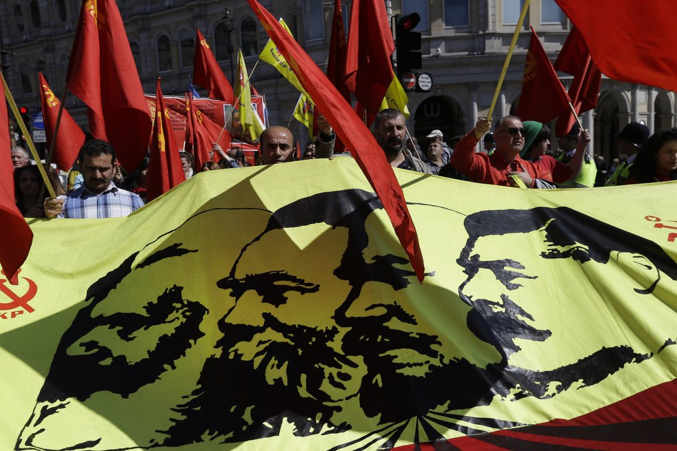 Первомайская демонстрация в Лондоне