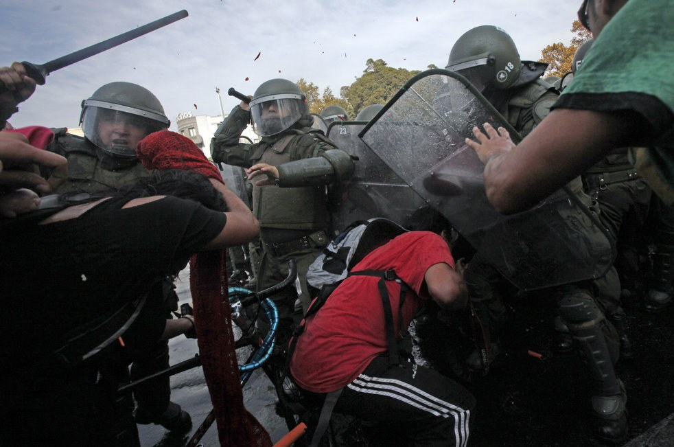 Первомайская демонстрация в Сантьяго