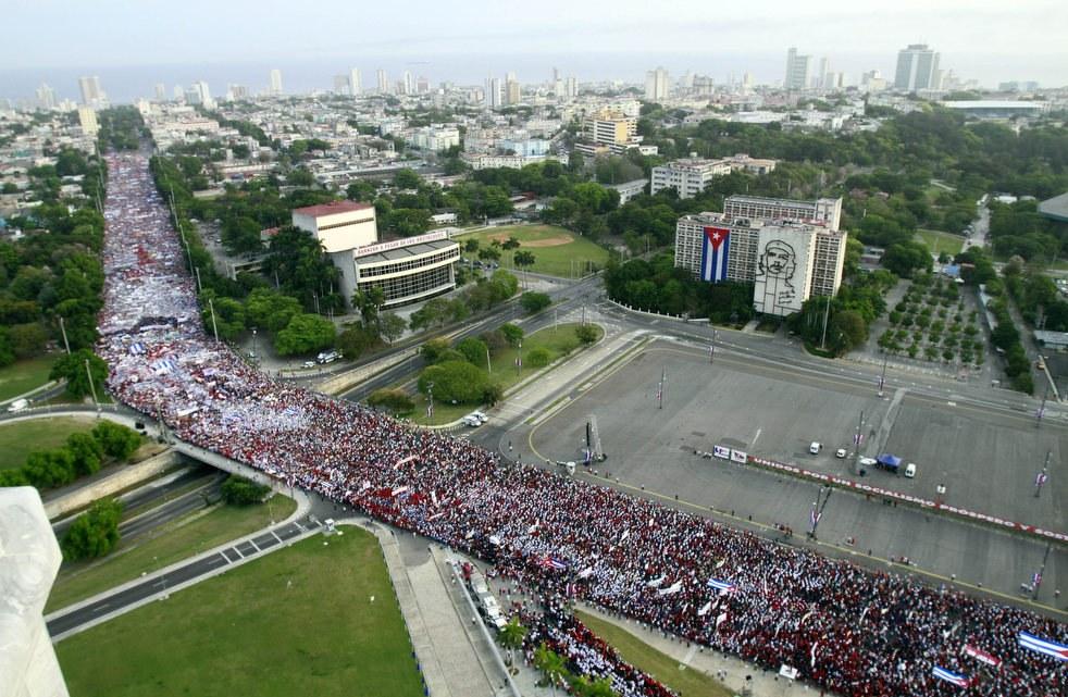 Первомайское шествие в Гаване, Куба