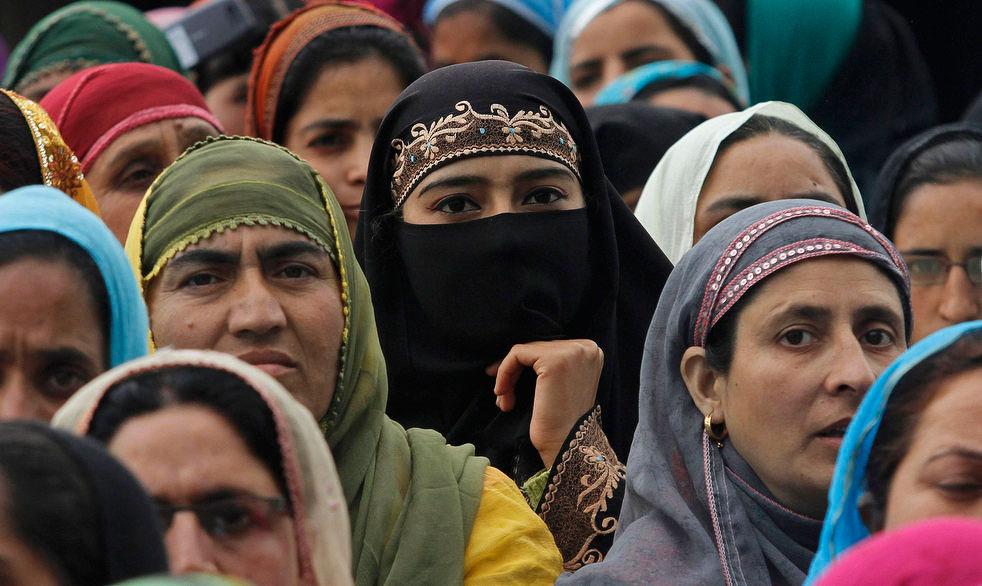 Демонстрация в Сринагаре, Индия