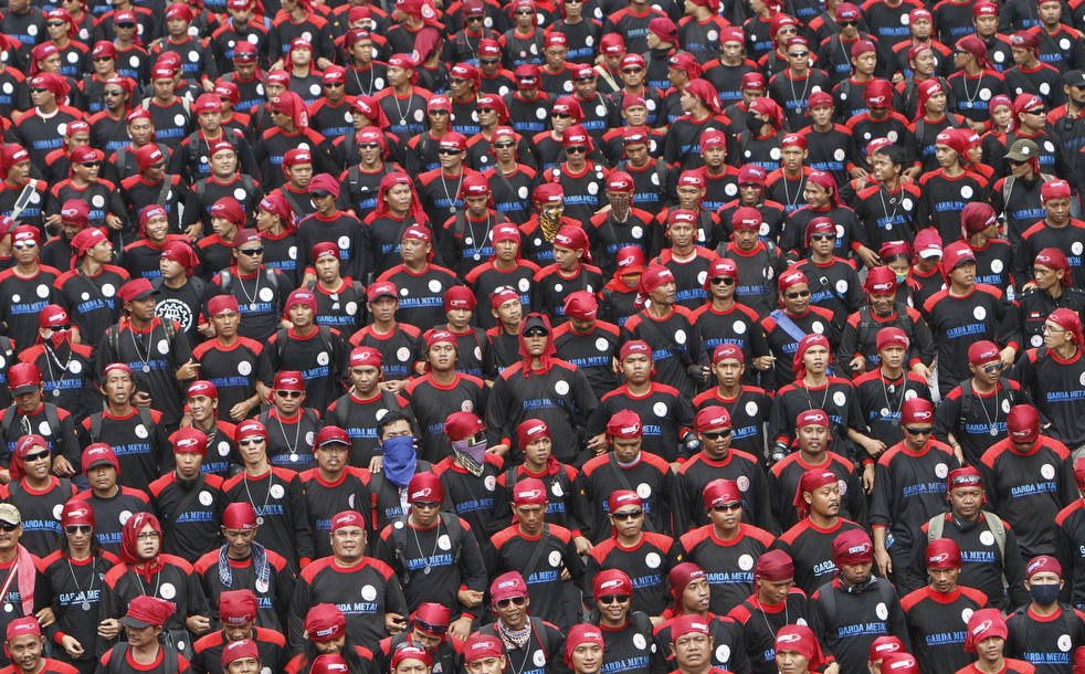 Первомайский митинг в Джакарте, Индонезия