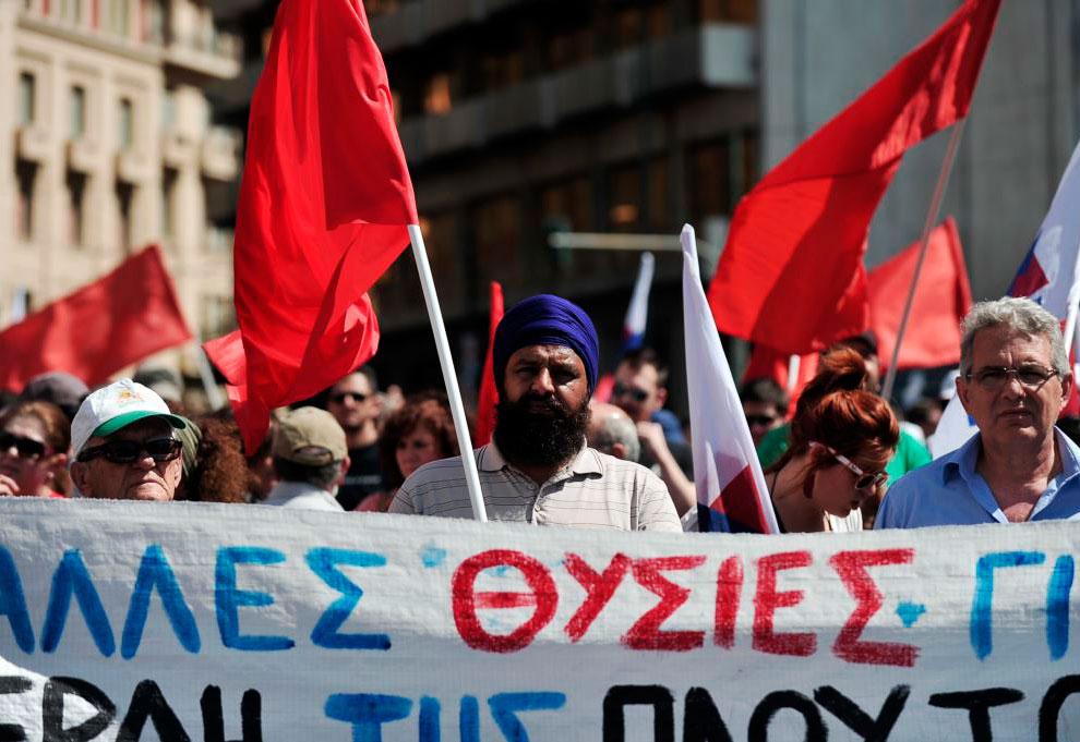 Первомай в Греции