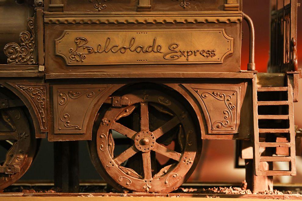 Шоколадный поезд для книги рекордов Гиннеса. Был установлен на Южном вокзале Брюсселя